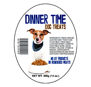 Pet Food Ingredients Label
