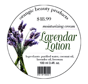 Skin Care Label